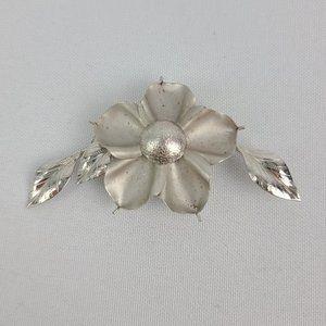 Vintage Bond Boyd Sterling Silver Flower Brooch